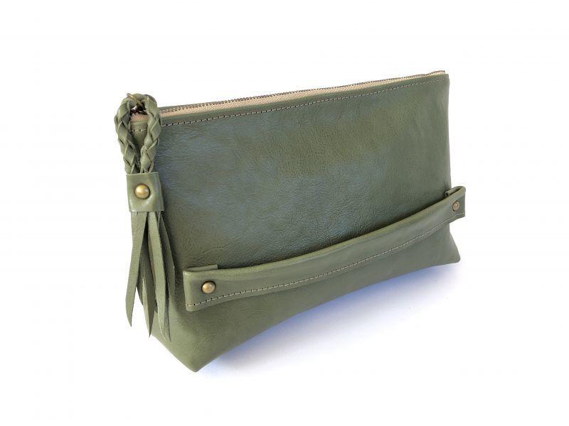 画像1: 【クラッチバッグ】 stylish clutch bag(リーフグリーン) (1)